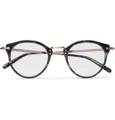 Oliver Peoples OP-505 Round-Frame Tortoiseshell Acetate and Gold-Tone Optical Glasses