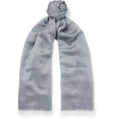 Begg & Co Staffa Cashmere and Silk-Blend Scarf