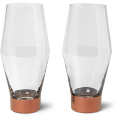 Tom Dixon Tank Set of Two Painted Beer Glasses