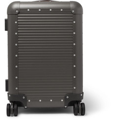 Fabbrica Pelletterie Milano - Spinner 53cm Leather-Trimmed Aluminium Carry-On Suitcase