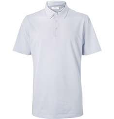 Adidas Golf Adipure Striped Stretch-Jersey Polo Shirt