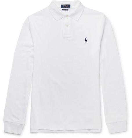Slim-fit Cotton-piqué Polo Shirt - White
