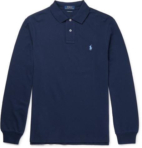 Polo Ralph Lauren – Slim-fit Cotton-piqué Polo Shirt – Navy