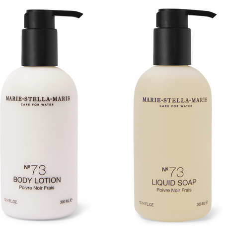 MARIE-STELLA-MARIS Poivre Noir Frais Soap And Lotion Kit, 2 X 300Ml in Colorless