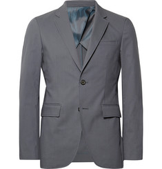 Solid Homme Anthracite Slim-Fit Stretch Cotton-Blend Suit Jacket