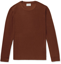 Solid Homme Slim-Fit Silk Sweater
