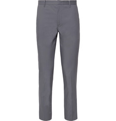 Solid Homme Anthracite Slim-Fit Stretch Cotton-Blend Suit Trousers