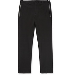 Solid Homme Slim-Fit Cropped Woven Trousers