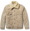 Remi Relief - Shearling-Trimmed Cotton-Blend Corduroy Jacket