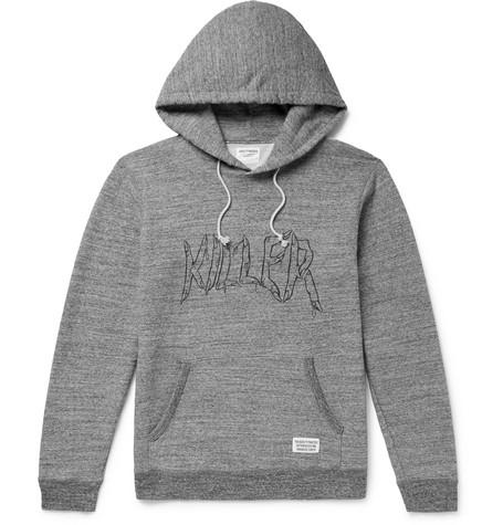 Wacko Maria Mélange Loopback Cotton-jersey Hoodie - Gray F6sa9uh