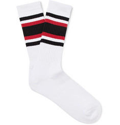 Wacko Maria - Striped Cotton-Blend Socks