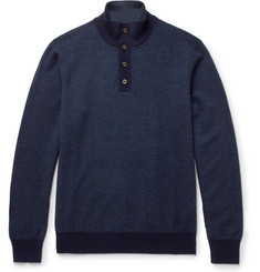 Hackett Slim-Fit Wool, Silk and Cashmere-Blend Sweater