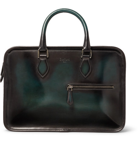 Berluti Un Jour Mini Leather Briefcase
