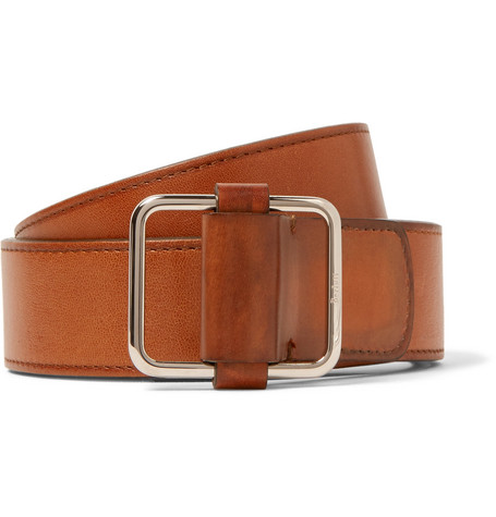 4cm Tan Lorenzo Leather Belt