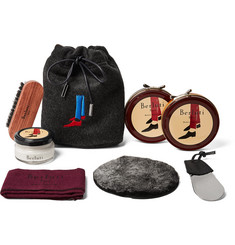 Berluti Shoe Care Kit with Seven-Pack Knitted Socks