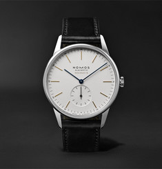 NOMOS Glashütte At Work Orion Neomatik Automatic 39mm Stainless Steel and Leather Watch