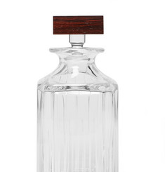 Linley Trafalgar Crystal and Rosewood Whisky Decanter