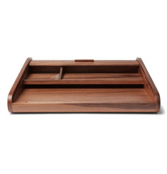 Linley - Tambour Walnut Desk Tidy