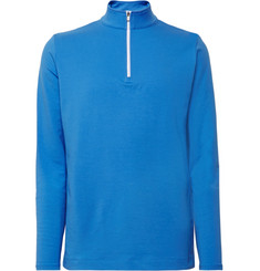 Dunhill Links - Baker Street Stretch Cotton and Modal-Blend Half-Zip Sweater