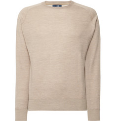 Dunhill Links - Herringbone Cashmere, Silk and Hemp-Blend Sweater