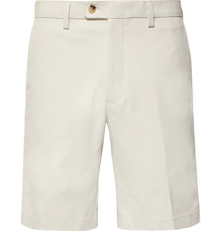 DUNHILL LINKS SLIM-FIT TWILL GOLF SHORTS