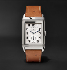 Jaeger-LeCoultre - Reverso Classic Large Duoface 27mm Stainless Steel and Ostrich Watch