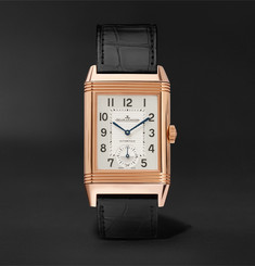 Jaeger-LeCoultre Reverso Classic Large Duoface 28mm 18-Karat Rose Gold and Alligator Watch