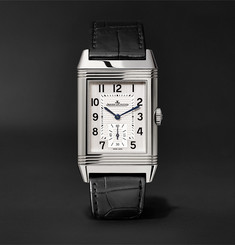 Jaeger-LeCoultre - Reverso Classic Large Duoface 28mm Stainless Steel and Leather Watch