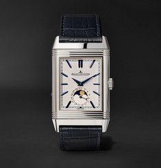 Jaeger-LeCoultre Reverso Tribute Moon 30mm Stainless Steel and Alligator Watch
