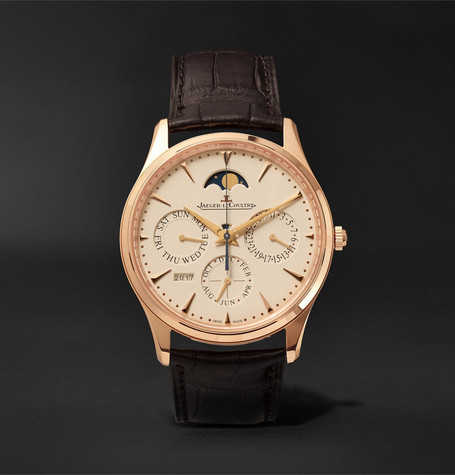 Master Ultra Thin Perpetual 39mm 18-karat Rose Gold And Alligator Watch - Brown