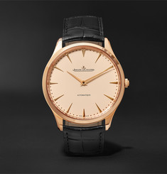 Jaeger-LeCoultre - Master Ultra Thin 41mm Pink Gold and Alligator Watch