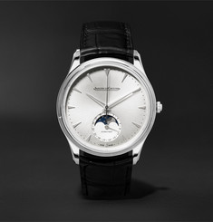 Jaeger-LeCoultre - Master Ultra Thin Moon 39mm Stainless Steel and Alligator Watch