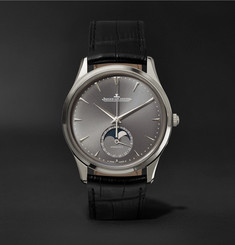 Jaeger-LeCoultre Master Ultra Thin Moon 39mm White Gold and Alligator Watch