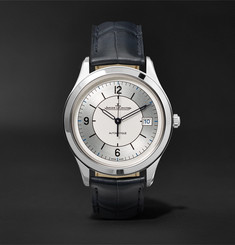 Jaeger-LeCoultre - Master Control Date Automatic 39mm Stainless Steel and Alligator Watch