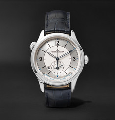 Jaeger-LeCoultre - Master Geographic Automatic 39mm Stainless Steel and Alligator Watch
