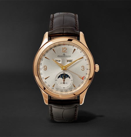Master Calendar 18-karat Rose Gold And Alligator Watch - Brown