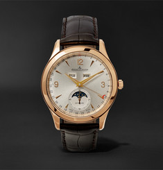 Jaeger-LeCoultre - Master Calendar 18-Karat Rose Gold and Alligator Watch