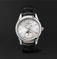 Jaeger-LeCoultre - Master Calendar Stainless Steel and Alligator Watch