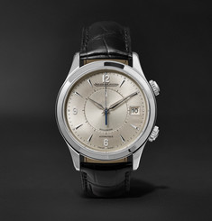 Jaeger-LeCoultre Master Mémovox 40mm Stainless Steel and Alligator Watch