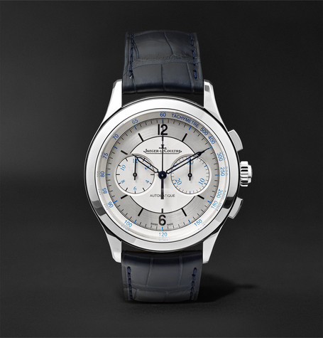 Master Chronograph 40mm Stainless Steel And Alligator Watch by Jaeger Le Coultre