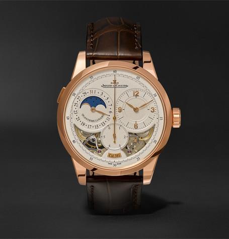 Duomètre à Quantième Lunaire 42mm 18-karat Rose Gold And Alligator Watch - Brown