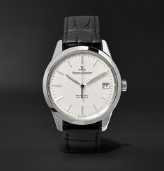 Jaeger-LeCoultre - Geophysic True Second Stainless Steel and Alligator Watch