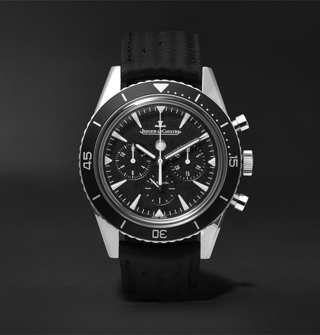 Deep Sea Chronograph 42mm Stainless Steel And Leather Watch - Black