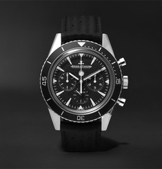 Jaeger-LeCoultre - Deep Sea Chronograph 42mm Stainless Steel and Leather Watch