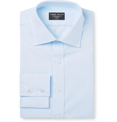 Emma Willis - Light-Blue Slim-Fit Cotton Oxford Shirt