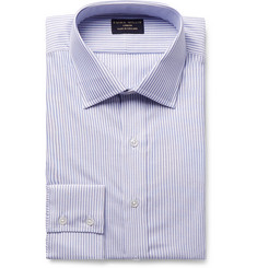 Emma Willis Light-Blue Slim-Fit Striped Cotton Oxford Shirt