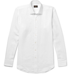 Emma Willis Slim-Fit Cutaway-Collar Linen Shirt