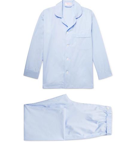 EMMA WILLIS Cotton-Poplin Pyjama Set