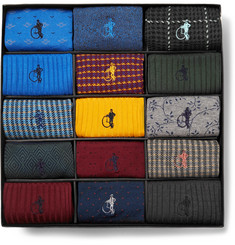 London Sock Co. - The Sartorial 15-Pack Stretch Cotton-Blend Socks