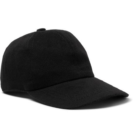 Rimini Cashmere Baseball Cap - Black